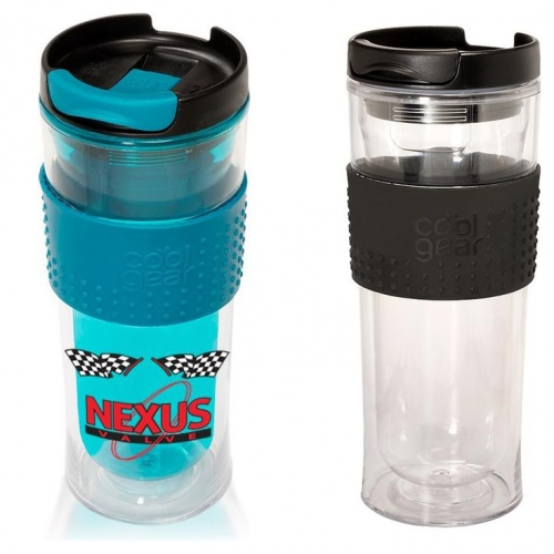 Nebraska Cornhuskers Cool Gear 16 oz  Double Wall Mason Jar Tumbler with Straw