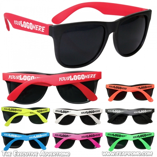 Promotional Party Sunglasses with 2 Locations